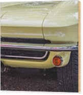 1965 Yellow Sting Ray Front Bumper Wood Print