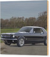 1966 Ford Mustang Coupe I Wood Print
