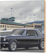 1966 Ford Mustang Coupe II Wood Print