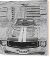 1968 Amc Amx Javelin Muscle Car Art Print Wood Print