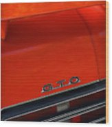 1969 Pontiac Gto The Judge Wood Print