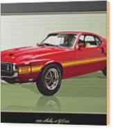 1969 Shelby v8 GT350  Wood Print