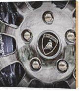 1997 Lamborghini Diablo Roadster  Wheel Emblem -1303ac Wood Print