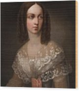 19th Century Russian Artist Portrait Of Countess Aleksandra Vladimirovna Musina-pushkina, 1853 Wood Print