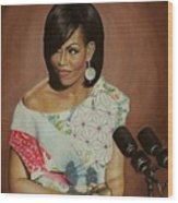 1st Lady Michelle Obama Wood Print