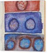 1 2 3 Rocks Wood Print