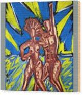2 Nude Dancers Wood Print