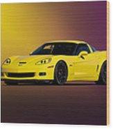 2008 Corvette Z06 Coupe Wood Print