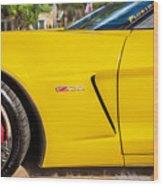 2013 Chevrolet Corvette Zo6 Painted Bw  Wood Print