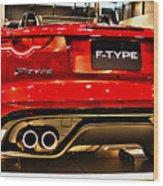 2016 Jaguar F-type Wood Print