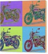 2016 Moto Guzzi V7ii Stornello - Warhol Style Wood Print