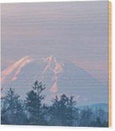 2018_3_17  Sunrise Mt. Rainier-6233  Wood Print