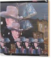 21 Dukes John Wayne Cardboard Cutout Collage Tombstone Arizona 2004-2009 Wood Print