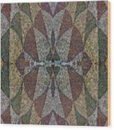21970. Mosaic Rhythm Of Roman Baths. Wood Print