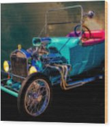 23 T Hot Rod In The Sky Wood Print