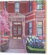 238 Marlborough Street Wood Print