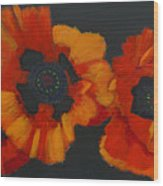 3 Poppies Wood Print