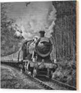 3802 Mince Pie Special On The Llangollen Line. Wood Print