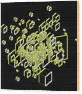 3d Futuristic Bg IIi Wood Print