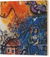 4dpictfdrew3 Marc Chagall Wood Print