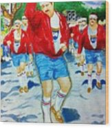 610 Stompers Wood Print by Terry J Marks Sr