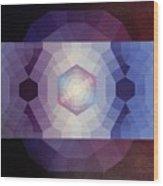 #65 Violet Field Wood Print