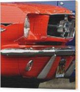 66 Mustang Fastback Wood Print