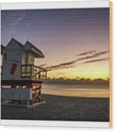 7901- Miami Beach Sunrise  Wood Print
