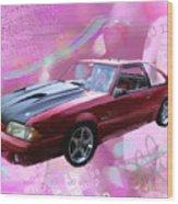 93 Mustang Wood Print