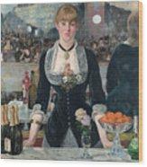 Edouard Manet - A Bar At The Folies-bergere Wood Print
