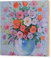 A Bouquet Of Flowers Wood Print