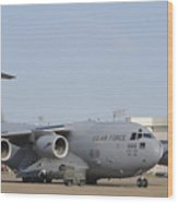 A C-17 Globemaster IIi Parked Wood Print by Stocktrek Images