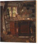 A Carpenter's Workshop Wood Print