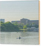A Day On The River - Philadelphia Wood Print