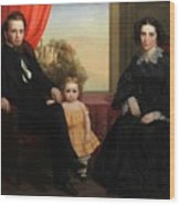 A Family Group Wood Print