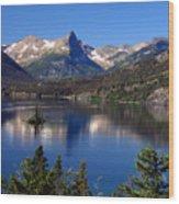 A Glacier Lake Wood Print