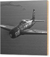 A Grumman F8f Bearcat In Flight Wood Print