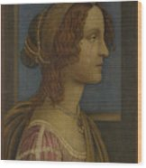 A Lady In Profile Wood Print