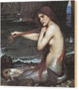 A Mermaid John William Waterhouse Wood Print