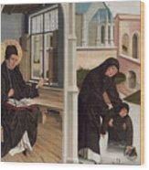 A Miracle Of Saint Benedict Wood Print
