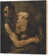 A Miser Study For Timon Of Athens Wood Print