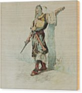 A Moorish Soldier Before A Sunlit Wall Wood Print
