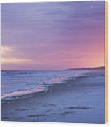 A Night On The Beach Begins Wood Print