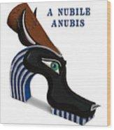 A Nubile Anubis Wood Print