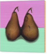 A Pair Of Pears Wood Print