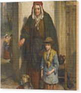 A Poor Beggar Bodie Wood Print