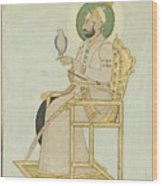 A Portrait Of Muhammad Shah Wood Print