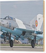 A Romanian Air Force Mig-21c Taking Wood Print