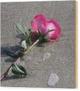 A Rose For Julie Wood Print