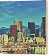A Slice Of Los Angeles Wood Print